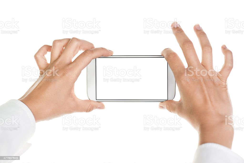 Taking photo with smart phone royalty-free stock photo