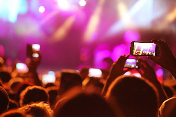 Die Aufnahme zu einem Konzert – Foto