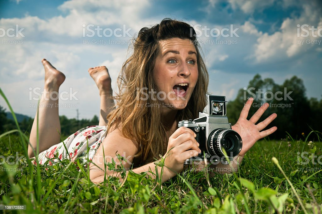 Taking picture royalty-free stock photo