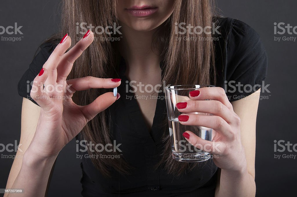 taking pill royalty-free stock photo
