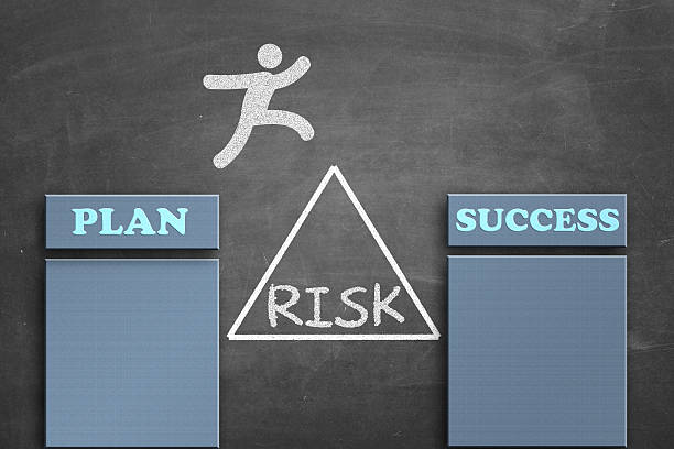 Taking risk to make the plan success stock photo