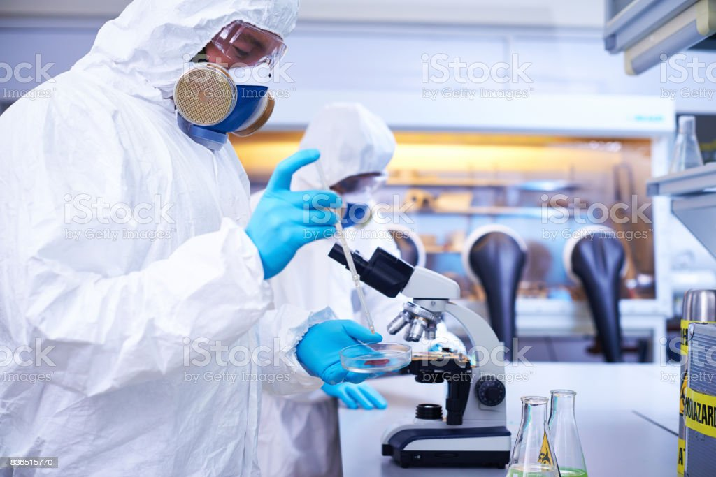 Taking sample for research - foto stock