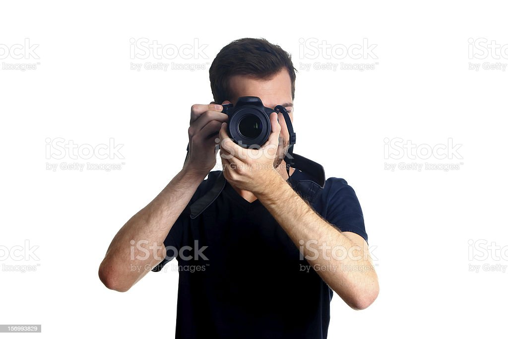 Taking shot royalty-free stock photo