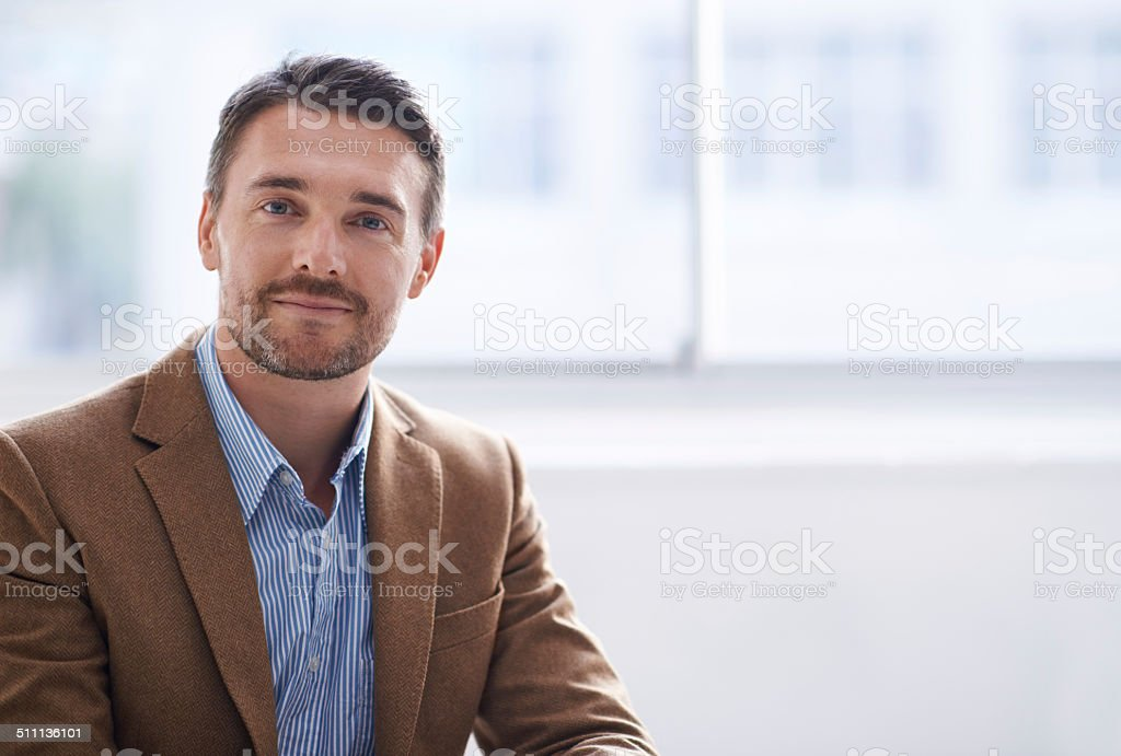 Taking some time out for himself stock photo
