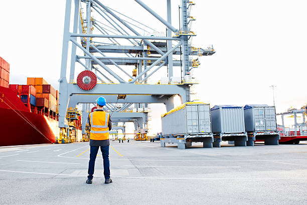 Taking stock of the shipyard stock photo