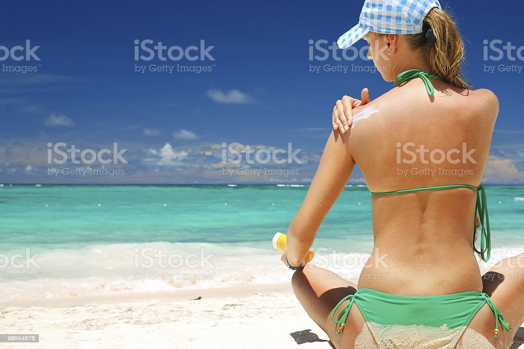 Taking sunbath royalty-free stock photo