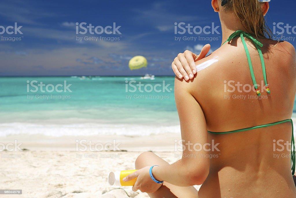 Taking sunbath royalty-free stock photo