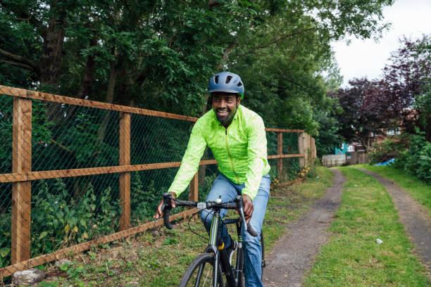 Taking the Bike to Work stock photo