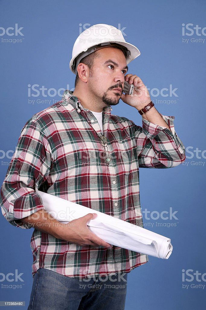 Taking the Call royalty-free stock photo