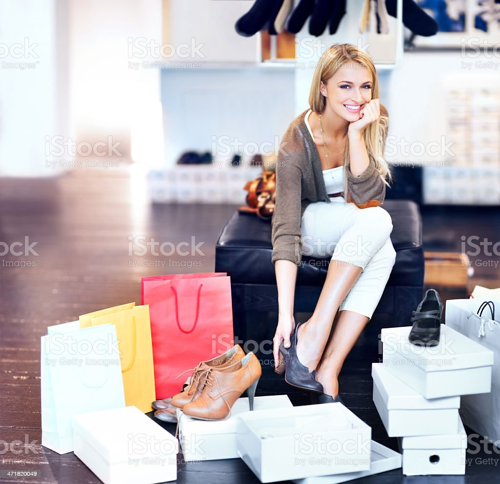 Taking the day off for fashion! stock photo