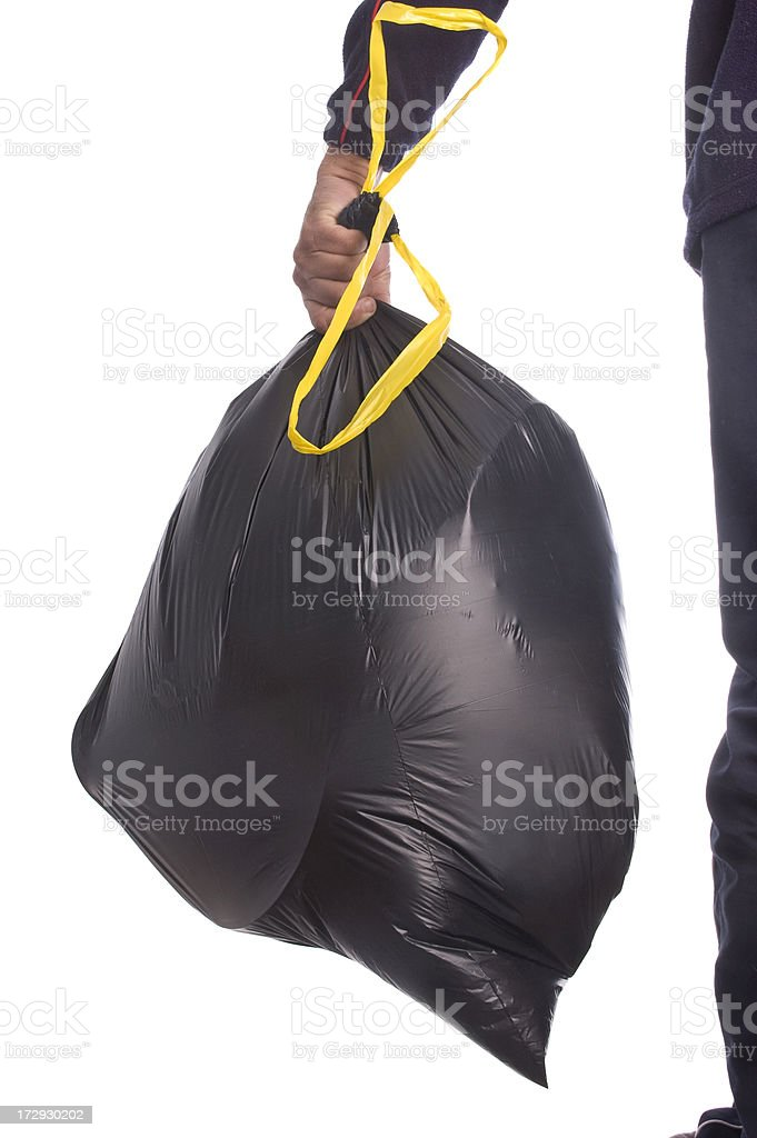 Taking the Garbage Out royalty-free stock photo