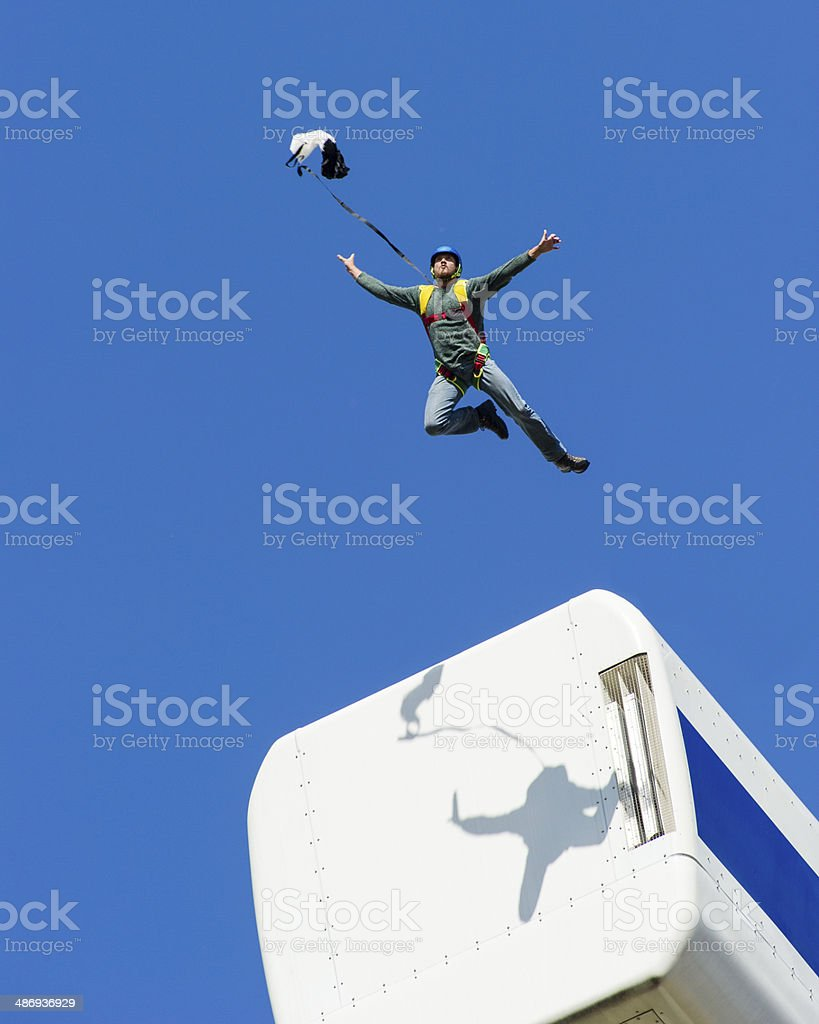 Taking the leap royalty-free stock photo