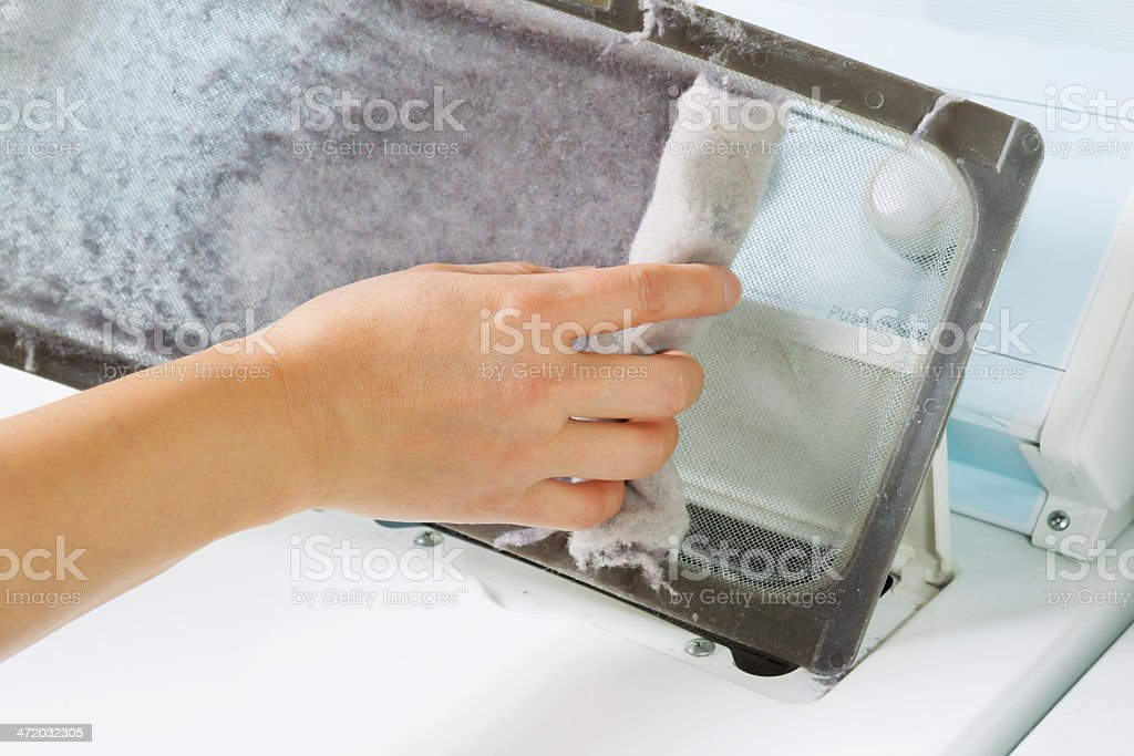 Taking the lent of Dryer Machine stock photo