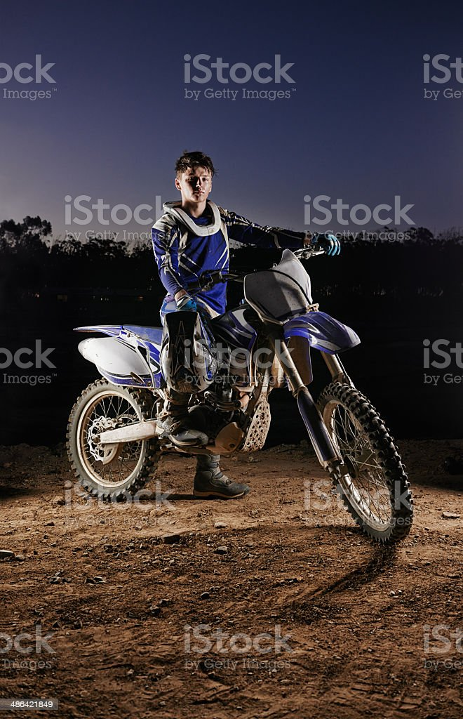 Taking the motocross world by storm stock photo