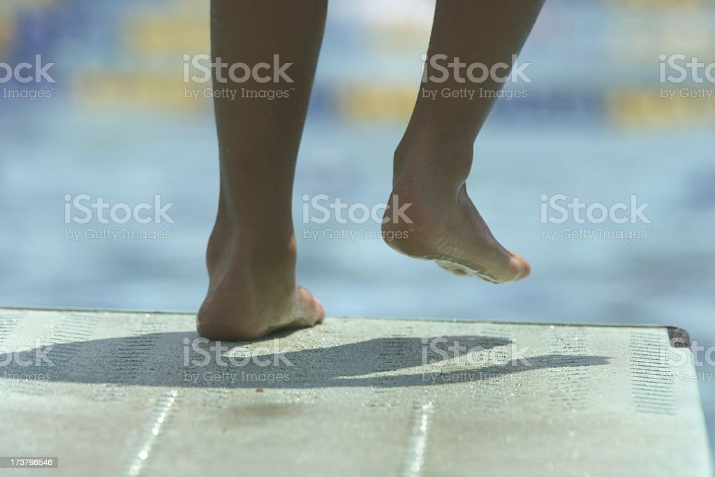 Taking the plunge royalty-free stock photo