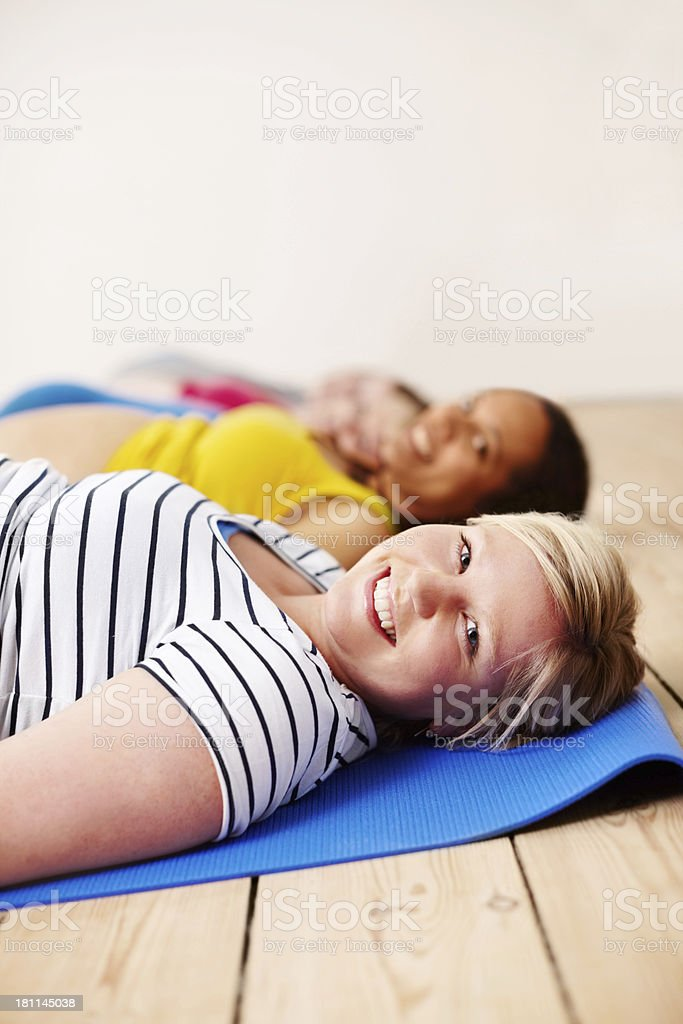 Taking the pressure off my legs royalty-free stock photo