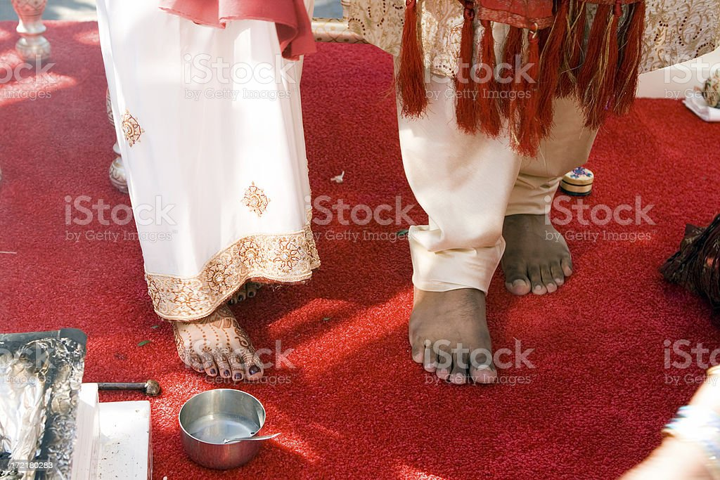 taking the step towards marriage stock photo