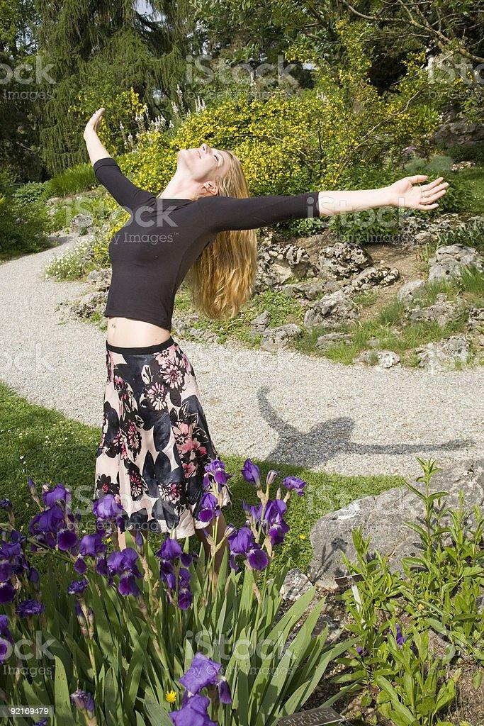 Taking the sun royalty-free stock photo