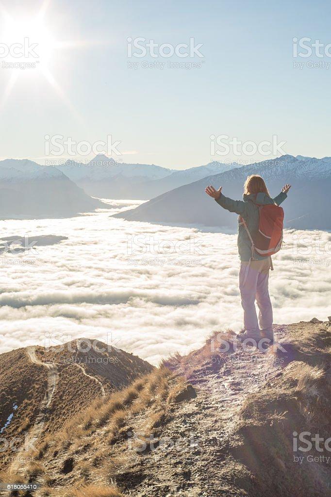 Taking the time to breathe it all in - Lizenzfrei Abenteuer Stock-Foto