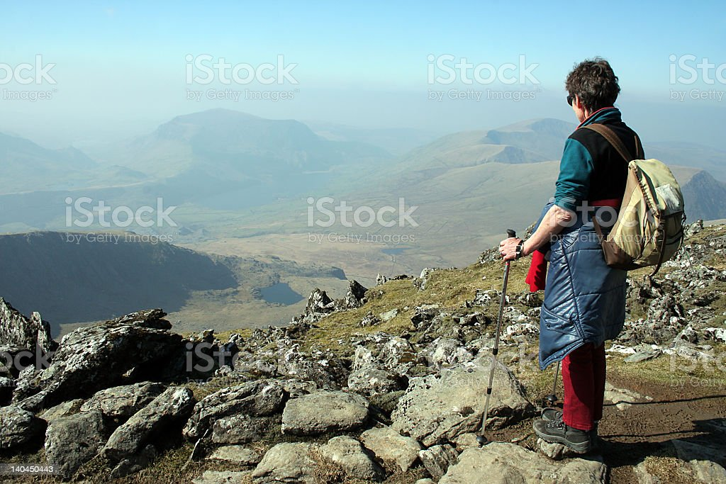 Taking the view royalty-free stock photo