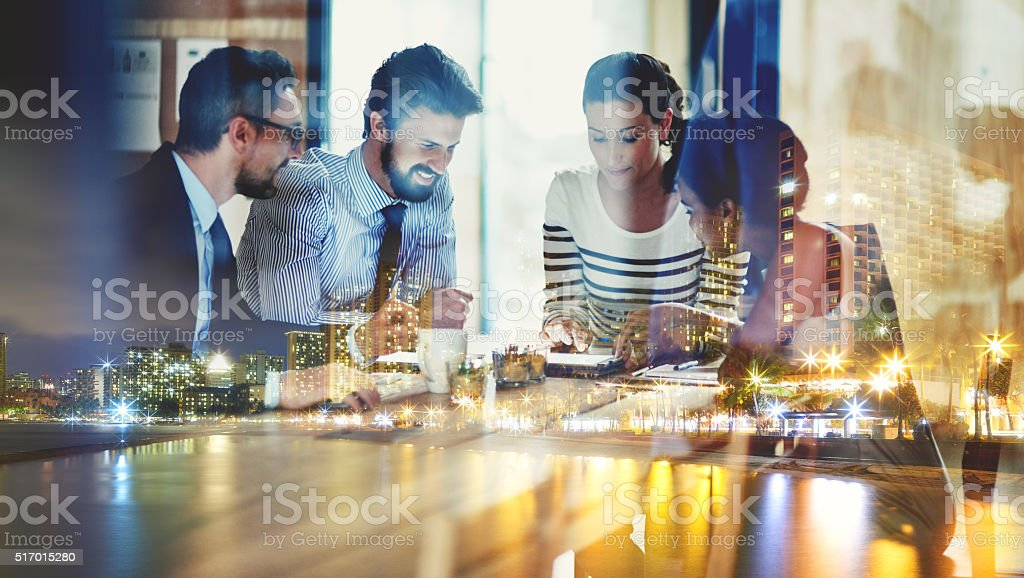 Taking their ideas online stock photo