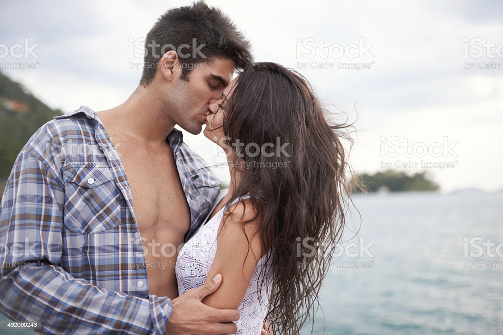 Taking their love outside stock photo
