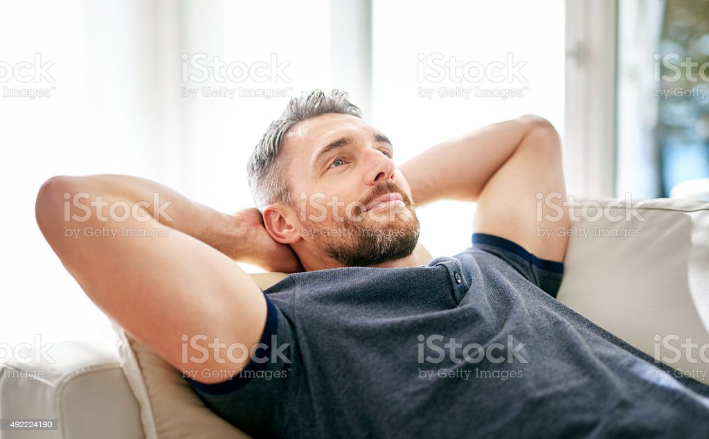 Taking things easy today stock photo