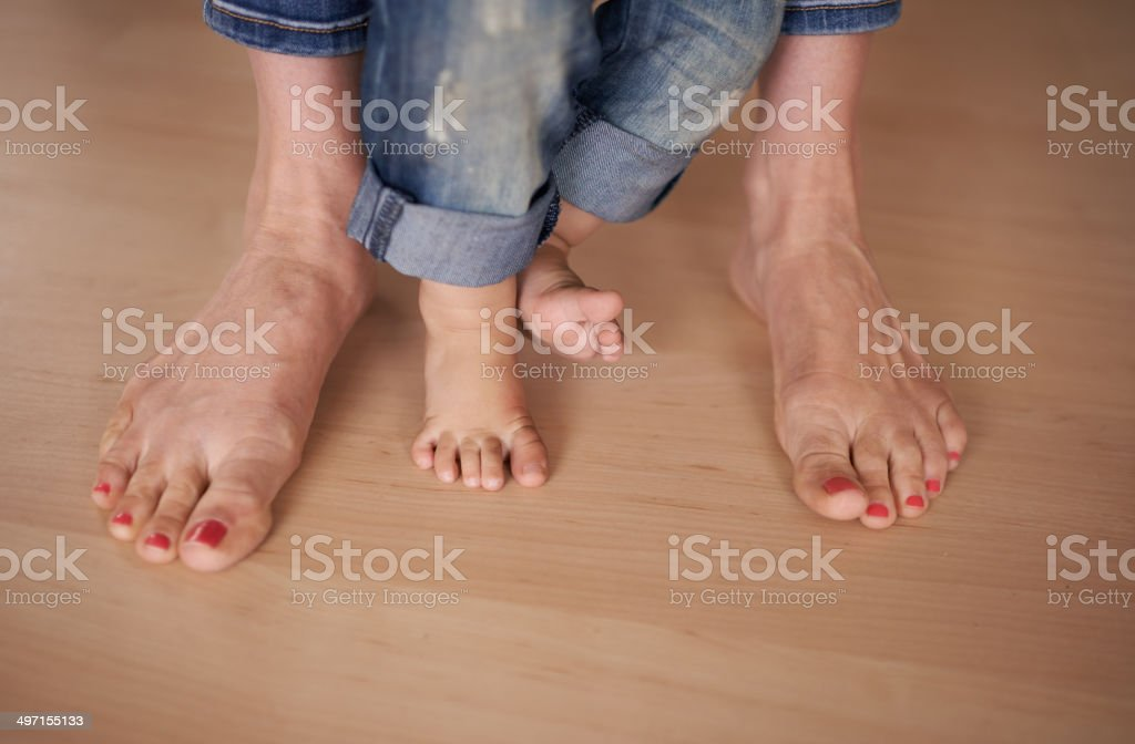 Taking those first steps stock photo