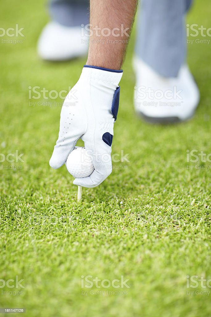Taking to the tee royalty-free stock photo