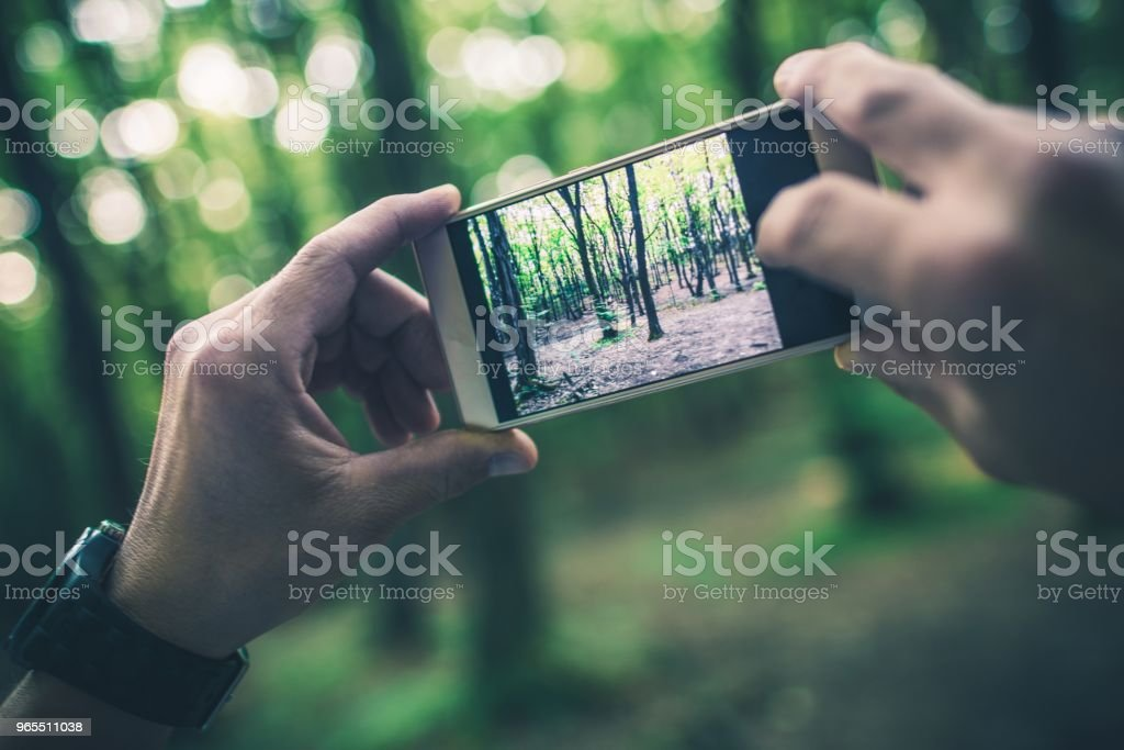 Taking Travel Pictures stock photo