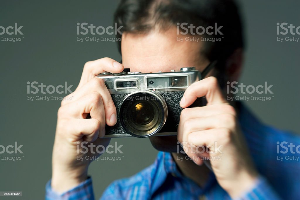 taking your photo stock photo