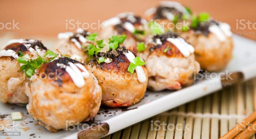 Takoyaki snack stock photo