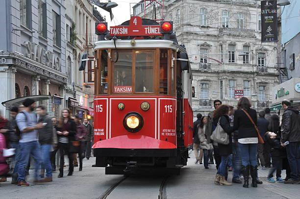 Taksim Istiklal Street. Istanbul, Turkey stok fotoğrafı