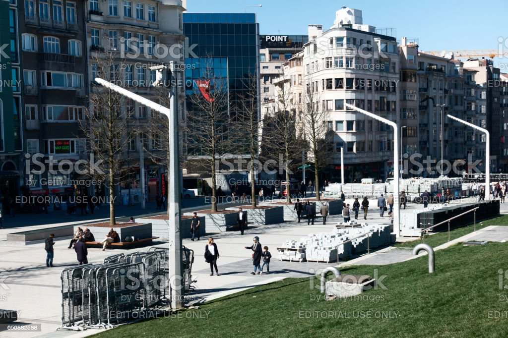 Taksim square in Istanbul City stock photo