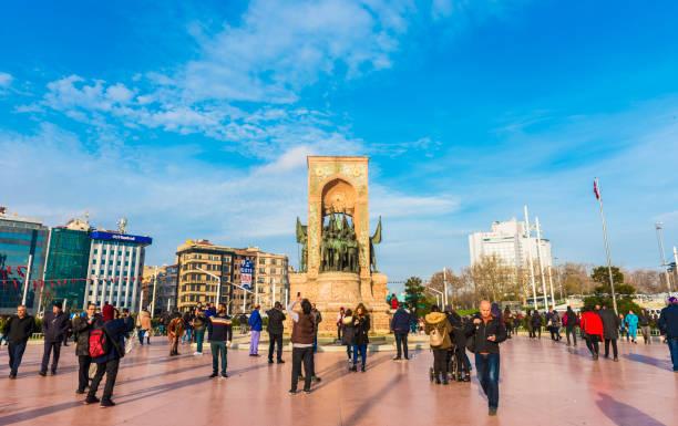 Istanbul'da Taksim Meydanı. stok fotoğrafı