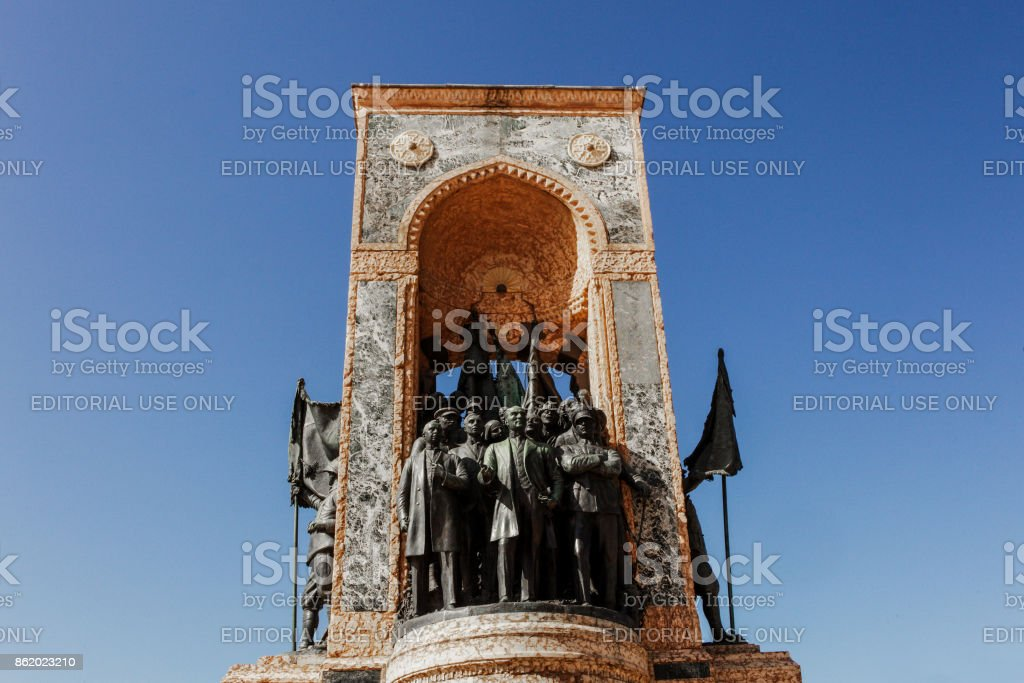 Taksim Square Republic Monument stock photo