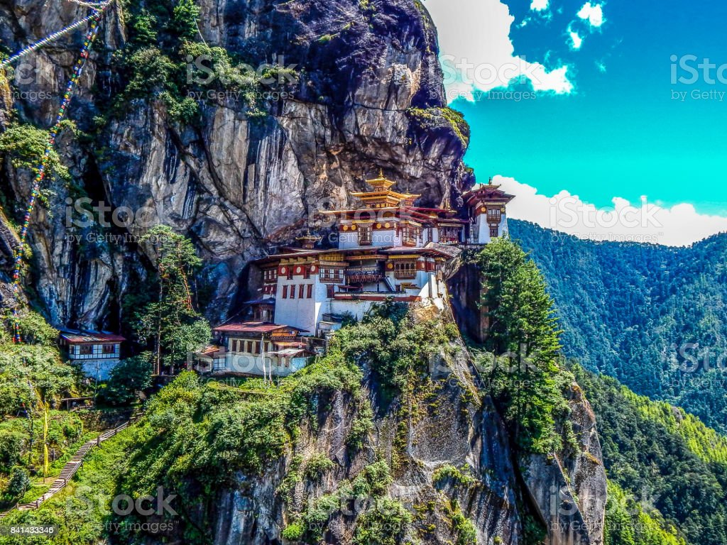 Taktsang monastery in Paro, Bhutan stock photo