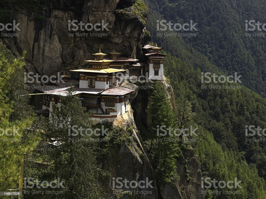 Taktsang or Tigers Nest Monastery stock photo