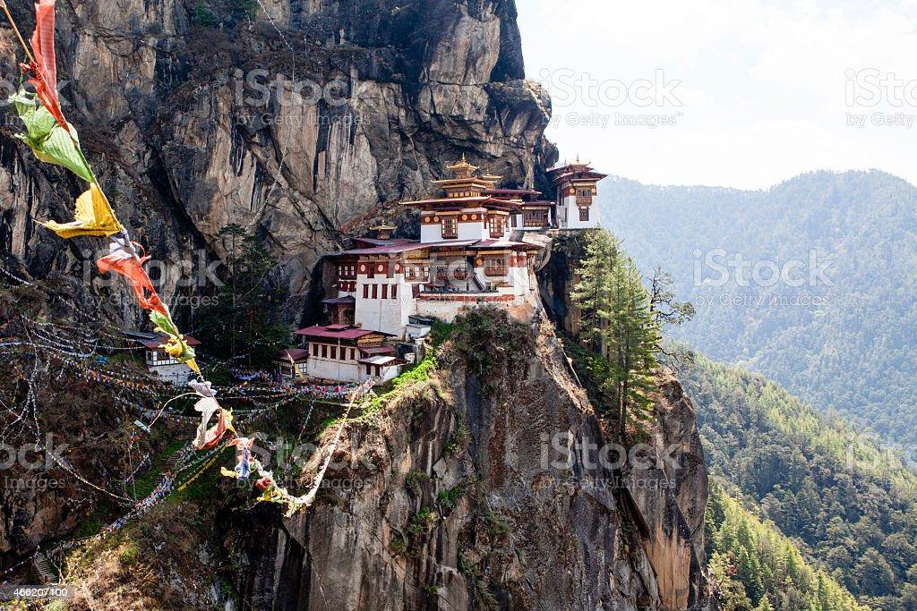 Taktshang Goemba (Tiger's Nest) in Western Bhutan - Asia stock photo