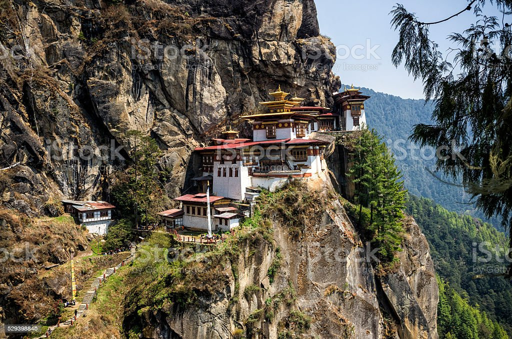 Taktshang monastery, Bhutan stock photo
