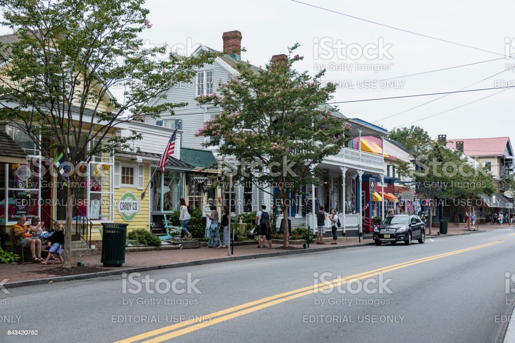 Talbot Street, Saint Michael's Maryland stock photo