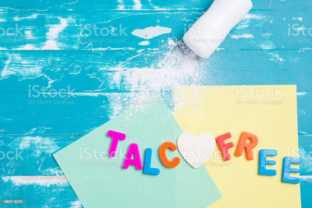 talcum powder, talc free powder royalty-free stock photo