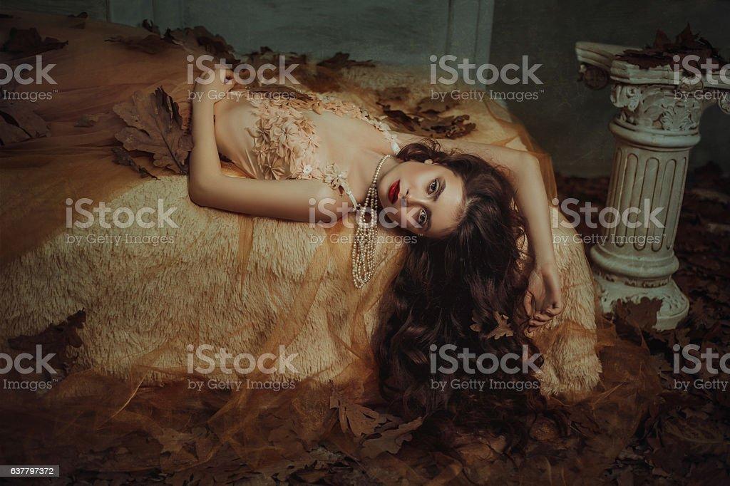Tale of Sleeping Beauty stock photo