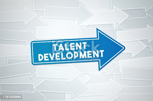 istock Talent Development Text Concept On Blue Directional Sign 1161533993
