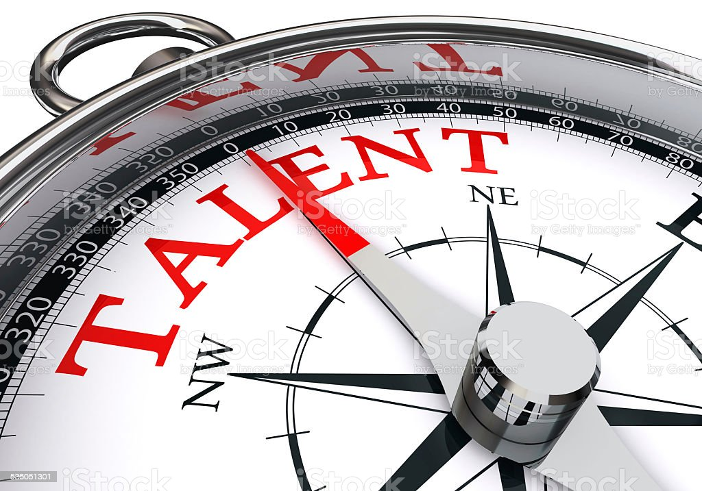 talent indicated by concept compass stock photo
