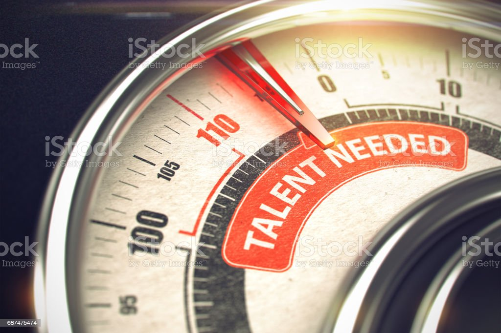 Talent benötigt - Business oder Marketing-Mode Konzept. 3D – Foto