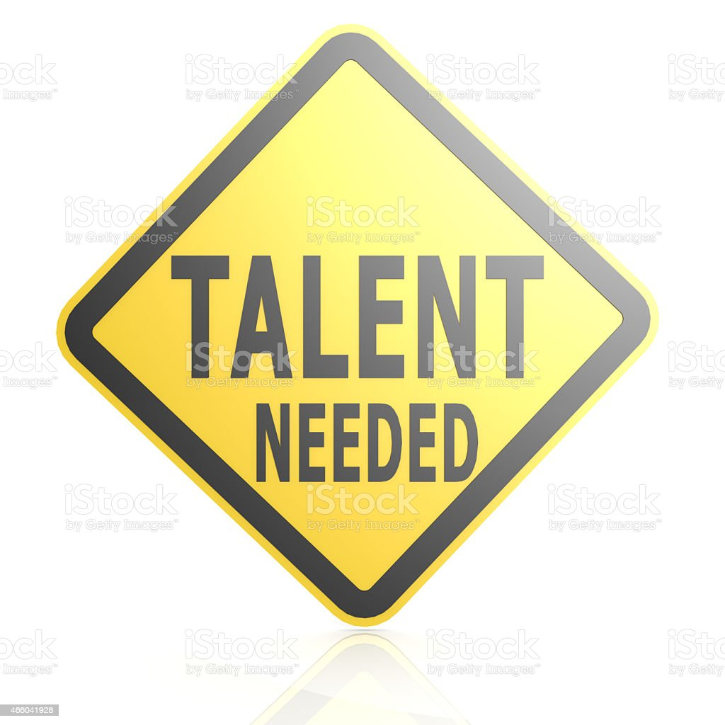 Talent needed road sign stock photo