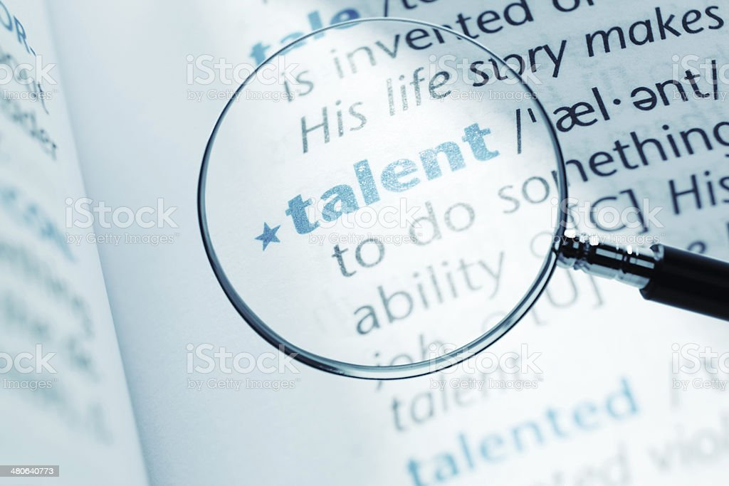 Talent stock photo