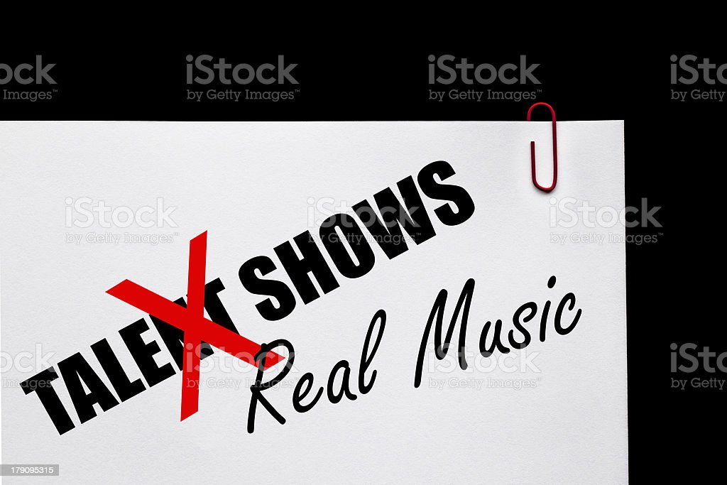 Talent Shows or Real Music? stock photo