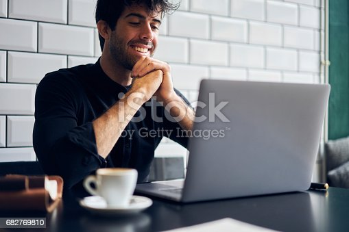 istock Talented male editor of popular magazine 682769810